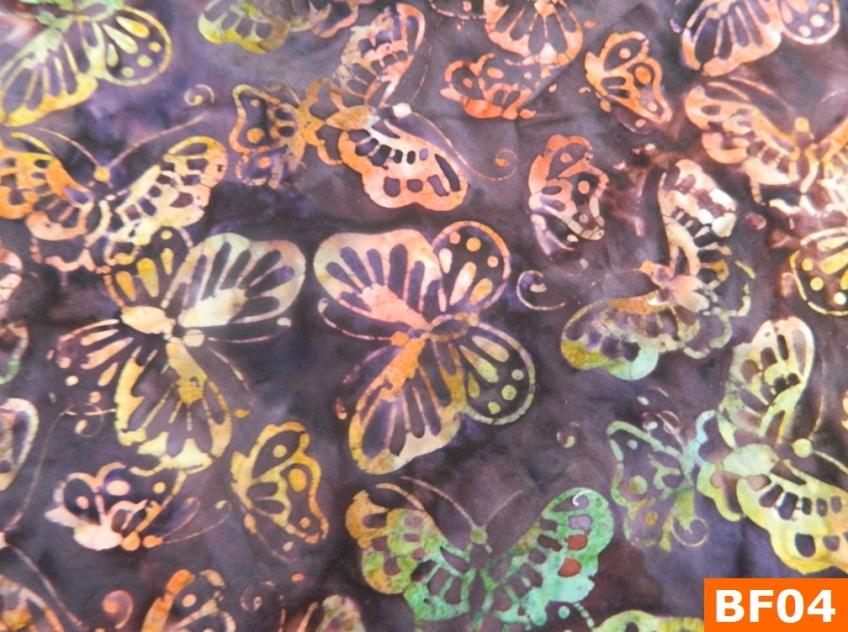 Warm Fleece Lined Winter Bandana With Batik Butterfly