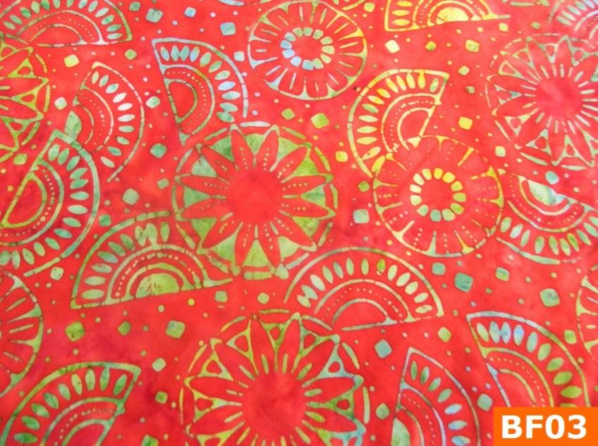 Warm Fleece Lined Winter Bandana WithBatik Fiesta Fabrics