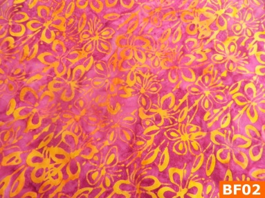 Warm Fleece Lined Winter Bandana With Batik Pink Yellow Floral