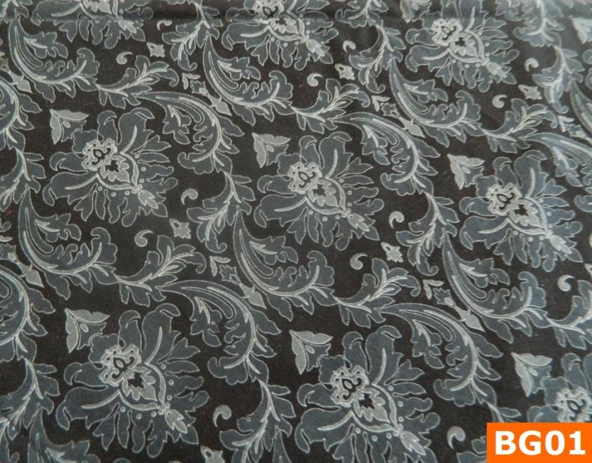 Warm Fleece Lined Winter Bandana With Black Grey Floral