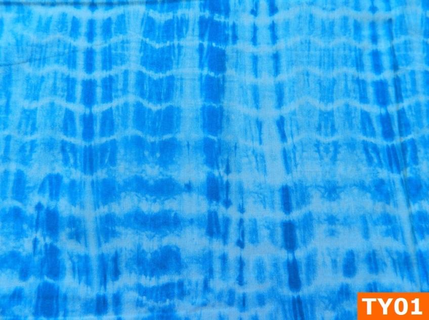 Warm Fleece Lined Winter Bandana With Blue Tie Dye