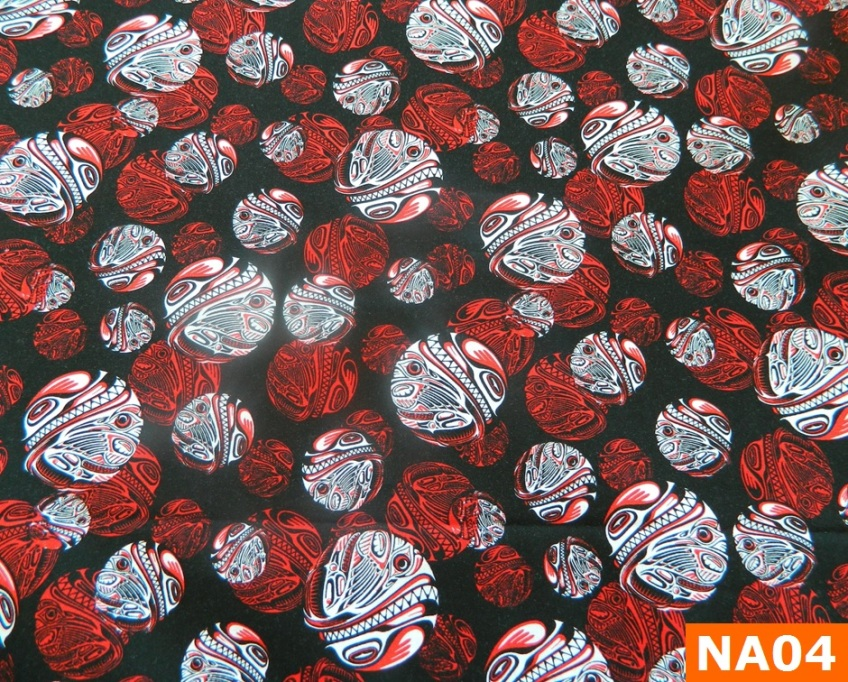 Warm Fleece Lined Winter Bandana With Red Orca Medallion