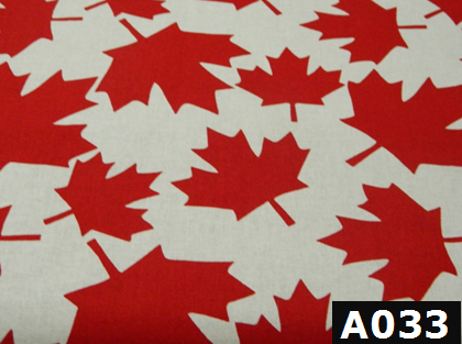Red Large Maple Leaves fabric 100% cotton Canadian custom made welding hats for Tradespeople who love bold design PPE