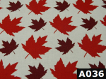 Maple Leaves On White fabric 100% cotton Canadian custom made welding hats for Tradespeople who love bright design PPE