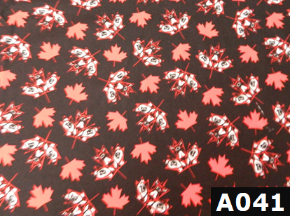 Native Maple Leaves Black fabric 100% cotton Canadian custom made welding hats for Tradespeople who love vibrant designs PPE