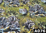 Born Free Raccoons fabric 100% cotton Canadian custom made welding hats for Tradespeople who love wildlife design PPE