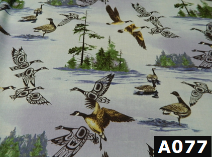 Scenic Canadian Geese fabric 100% cotton Canadian custom made welding hats for Tradespeople who love wildlife design PPE