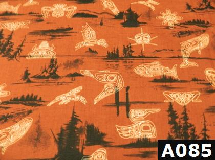 Haida Gwaii On Rust fabric 100% cotton Canadian custom made welding hats for Tradespeople who love native art designs PPE