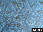 Cowboy Paisley Print fabric 100% cotton Canadian custom made welding hats for Tradespeople who love paisley designs PPE