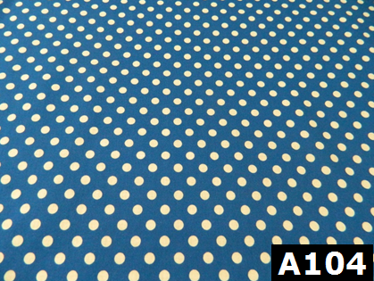Medium Polka Dots On Blue 100% cotton Canadian custom made welding hats for Tradespeople who love classic designs PPE