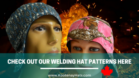 Canada Locally Hand Made To Fit Welding Hats Caps Are Comfortable Protective Versatile For Male and Female Welders Welding Professionals And Other Trades Experts