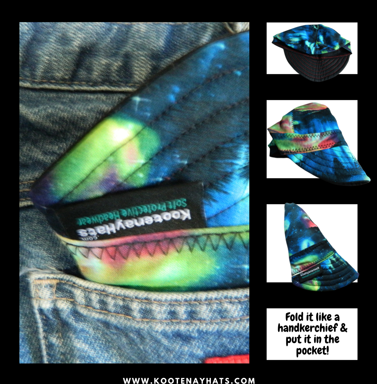 Treat it like your buddy! Fold the welding hat like a hankerchief and put it in your pocket. And never leave home without it! www.KootenayHats.com