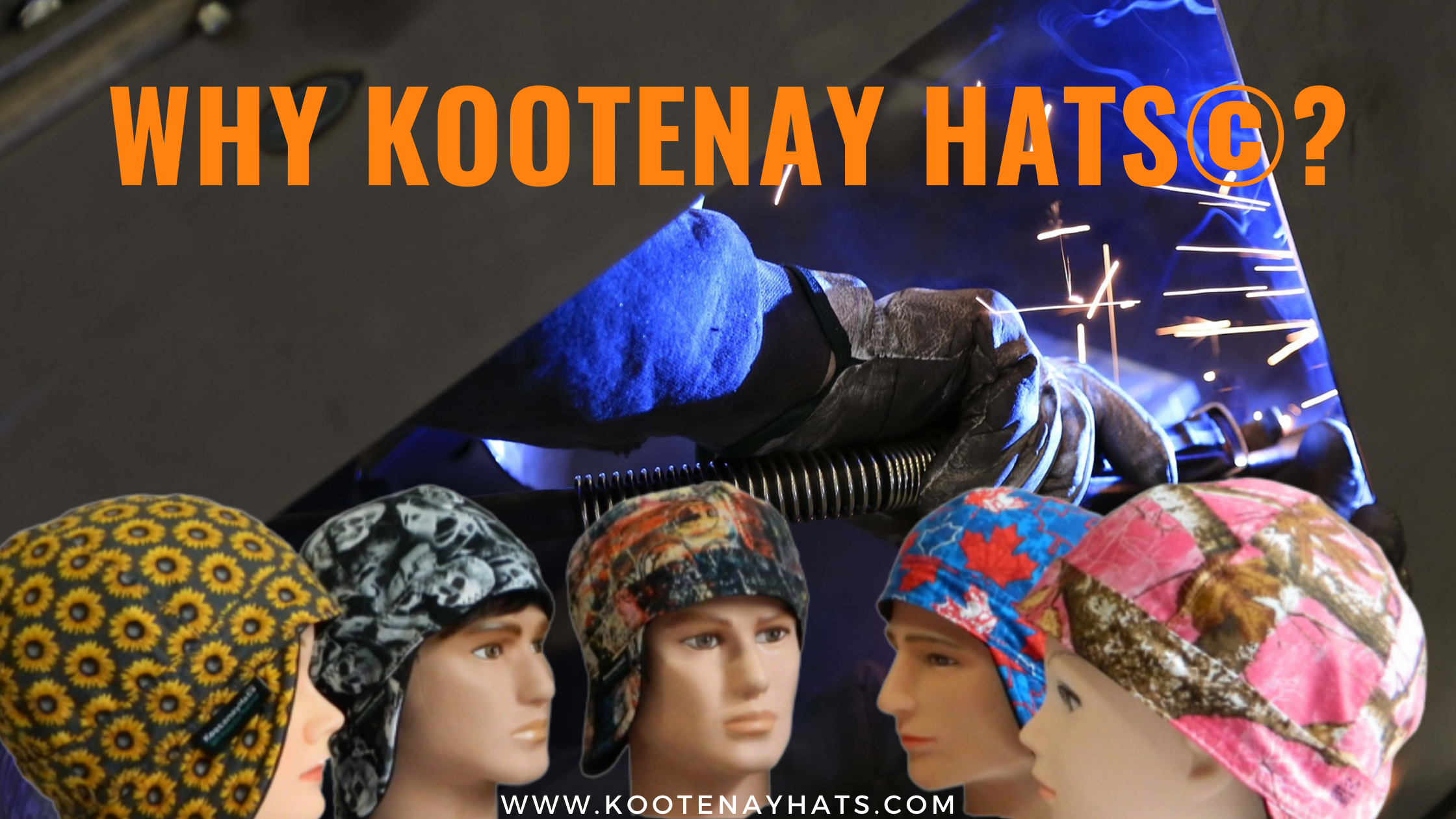 Why Kootenay Hats©? These Hats Protect Your Ear Drum From Hot Slag, Molten Metal, Flying Sparks, Heat Burn, UV Radiation When Welding & they Improve Your Comfort Under The Hard Hat Also They are Beautiful And Proud to Own.