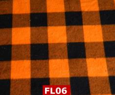 Flannel Orange Checks 100% Cotton Canadian Custom Made Welding Hats For Tradespeople www.KootenayHats.com