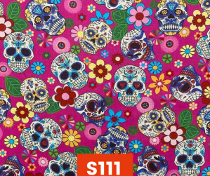 S111 Sugar Skulls On Pink Fleece Lined Fall Winter Safety Scarf Bandana To Keep Warm Safe Productive In Cold Environment Custom Made For Tradespeople Families And Friends In Cold Environment Made Perfect Gifts www.kootenayHats.com