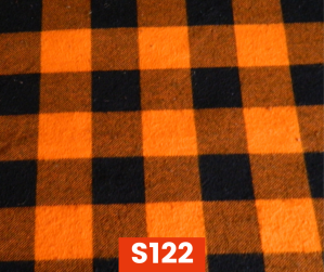 S122 Flannel Orange Check Fleece Lined Fall Winter Safety Scarf Bandana To Keep Warm Safe Productive In Cold Environment Custom Made For Tradespeople Families And Friends In Cold Environment Made Perfect Gifts www.kootenayHats.com