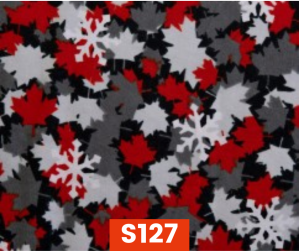 S127 Flannel Snowflakes On Grey Fleece Lined Fall Winter Safety Scarf Bandana To Keep Warm Safe Productive In Cold Environment Custom Made For Tradespeople Families And Friends In Cold Environment Made Perfect Gifts www.kootenayHats.com