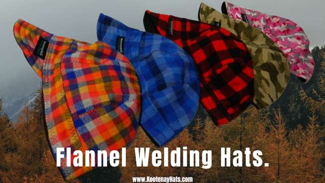 Soft Flannel 100% Cotton Canadian Custom Made Reversible Welding Hats For Tradespeople. Comfortable and help you to stay healthy and productive visit https://kootenayhats.com/flannel-welding-hats/